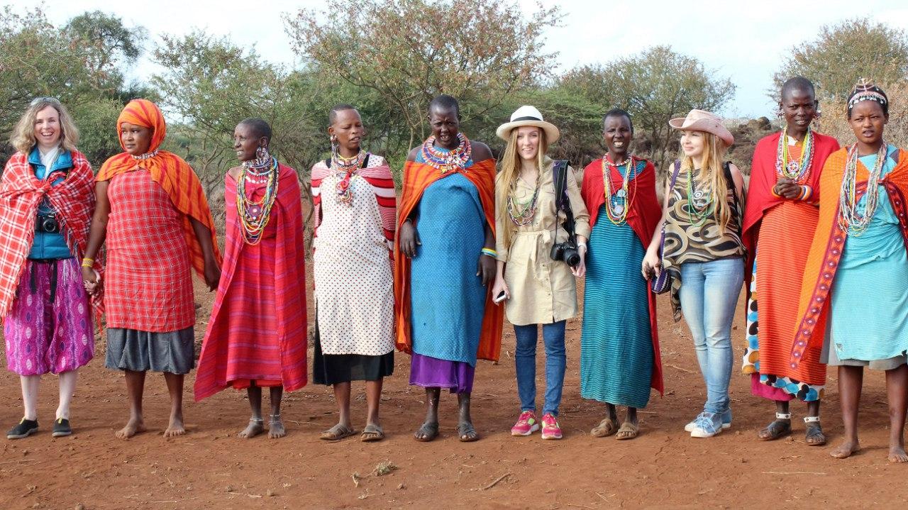 Посещение масайской деревни