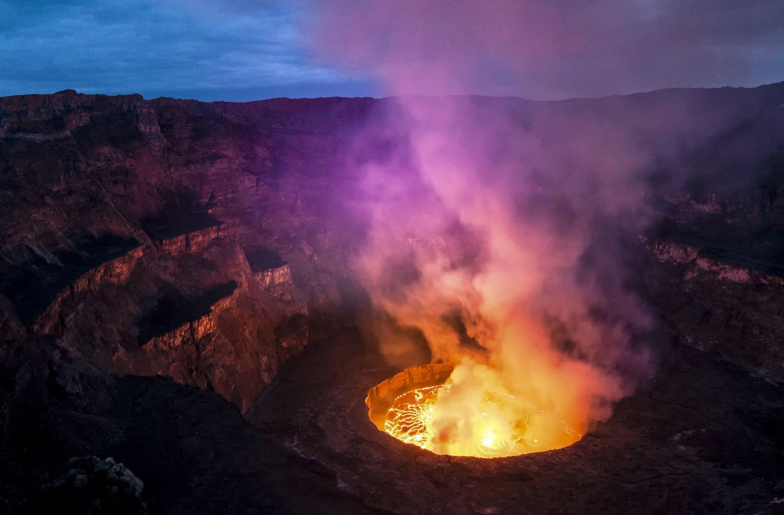 Активный вулкан в Конго