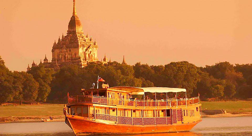 Круиз по реке Иравади