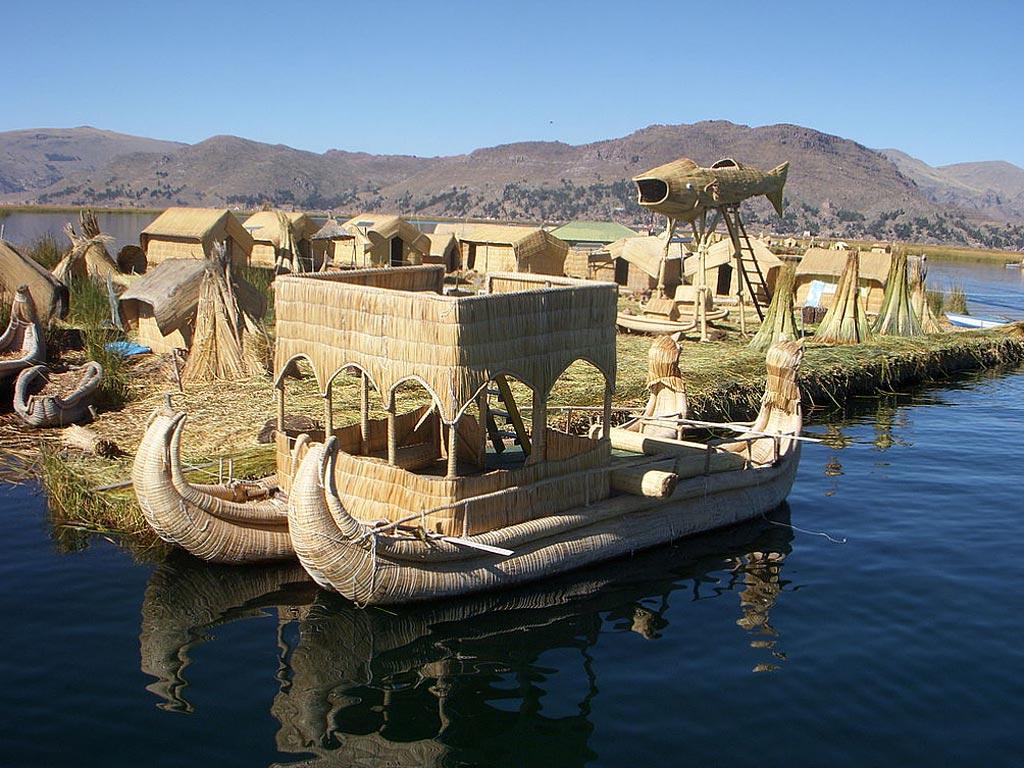 Лодки у побережья Пуно