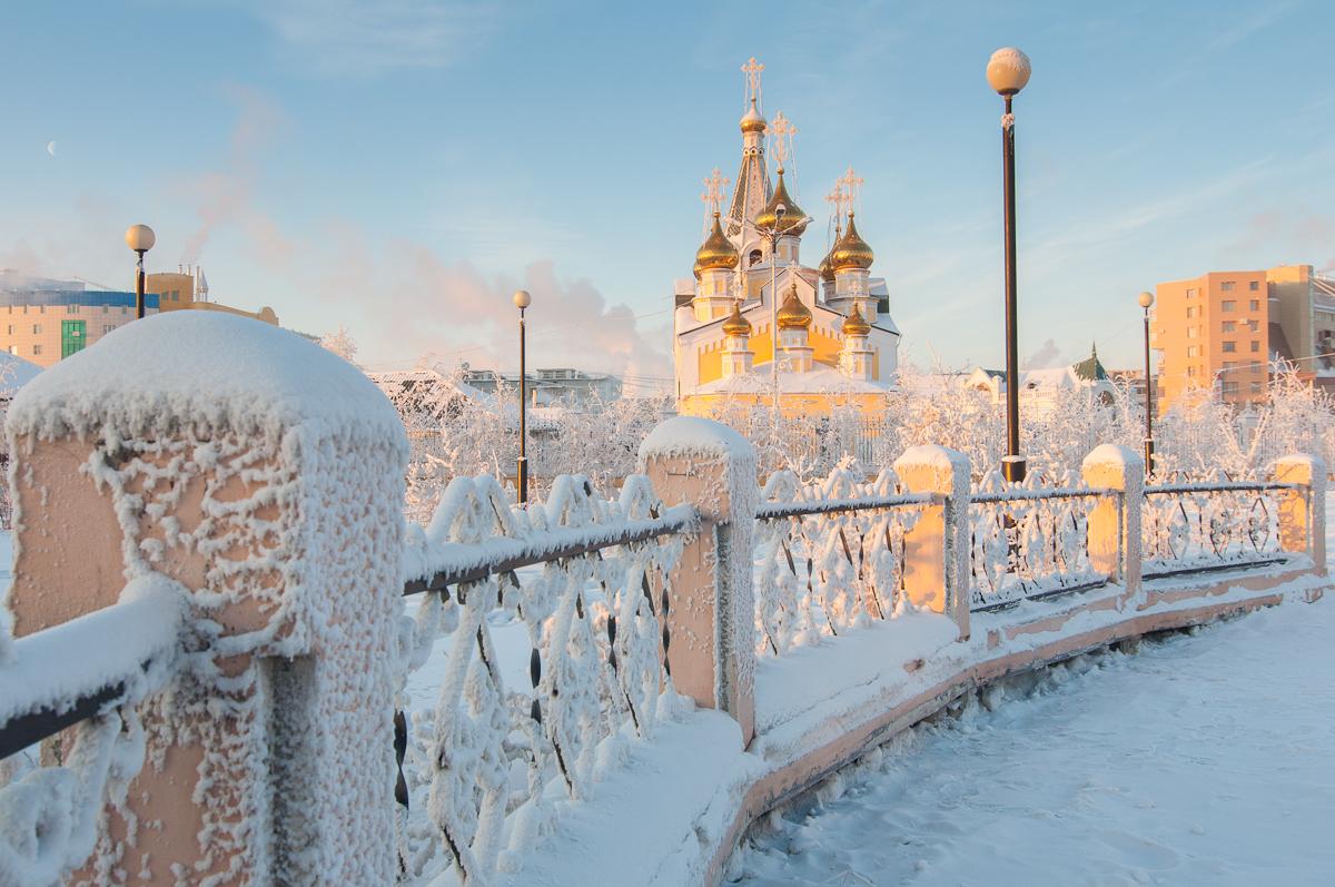 Зимний Якутск