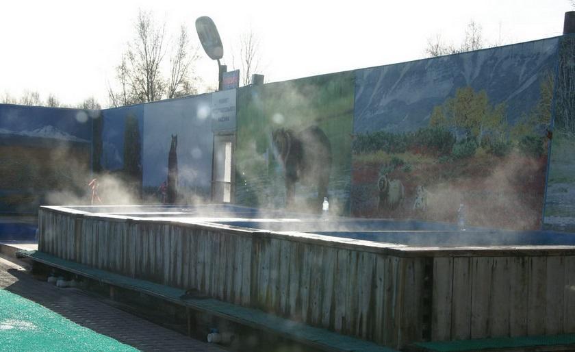 Камчатка, термальные источники Зеленовские озерки
